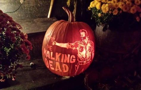 walking dead pumpkin1