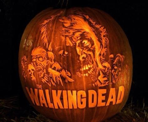 walking dead pumpkin2
