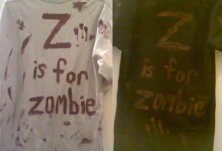 zombie tshirts